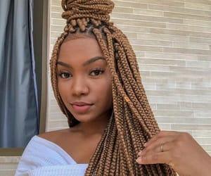 beauty, braids, and girls image