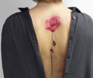 back, flower, and flowers image