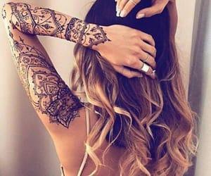 tattoo, henna, and hair image