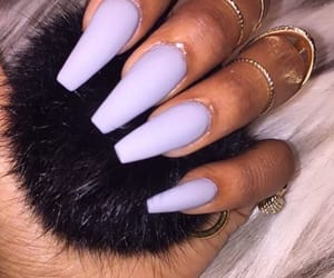 nails, matte, and purple image