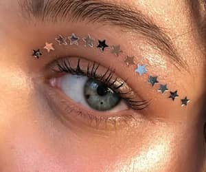 eyes, stars, and beauty image