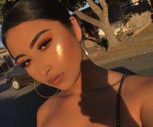 makeup, girl, and highlight image