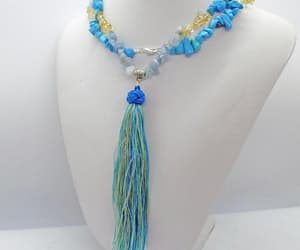 beaded necklace, gift for her, and boho necklace image