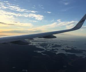 europe, flight, and plane image