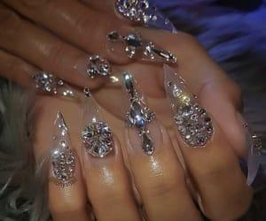 acrylic, diamonds, and nails image
