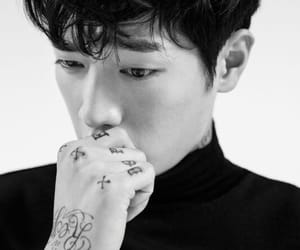 actor, black & white, and joon image