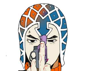 anime, jojos bizarre adventure, and guido mista image