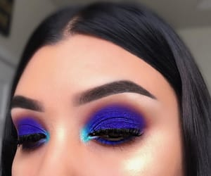 blue, makeup, and eyebrows image