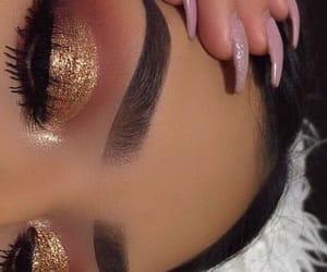 eyes, hair, and lashes image