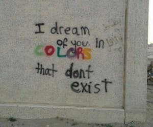 quote, colors, and graffiti image