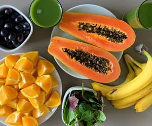 fruit, orange, and banana image