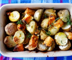 bake, potatoes, and eat image