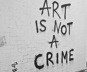 art, crime, and graffiti image