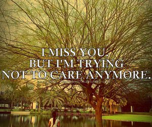 care, i miss you, and quote image
