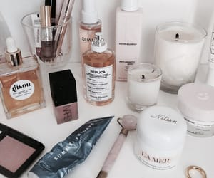 beauty, cosmetics, and candles image