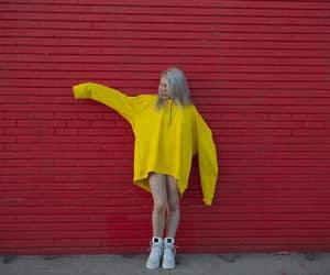 billie eilish, yellow, and billie image