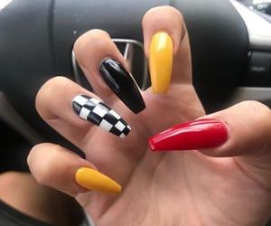 acrylics, colorful nails, and nails image