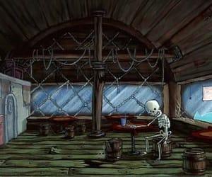 bones, spongebob, and squarepants image