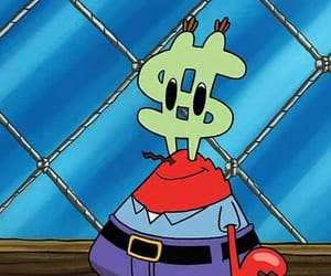 krabs, money, and squarepants image