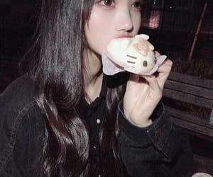asian, girl, and hello kitty image