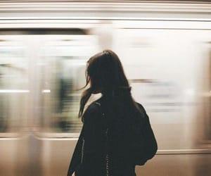 girl, train, and aesthetic image