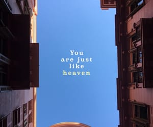 blue sky, just like heaven, and Lyrics image