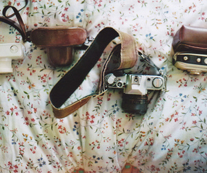 antique, bed, and camera image