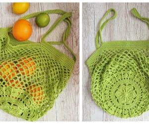 crochet, flower, and market bag image