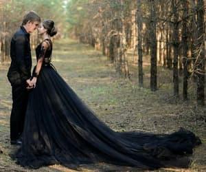 beautiful, etsy, and black wedding dress image