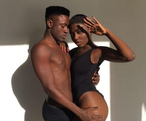 black, people, and couple image