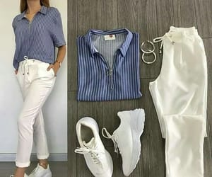 earings, outfits goals, and pants image