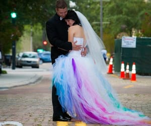 beautiful, bride, and bright dress image