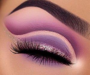 eye, glitter, and makeup image