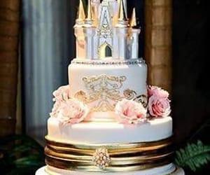 cake, castle, and wedding cake image