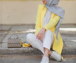 hijab and yellow image