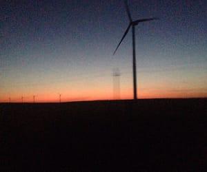 dark and sunset image
