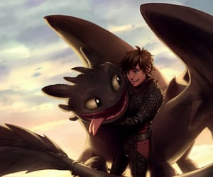 dreamworks, movie, and toothless image