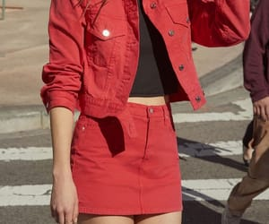 red and street style image