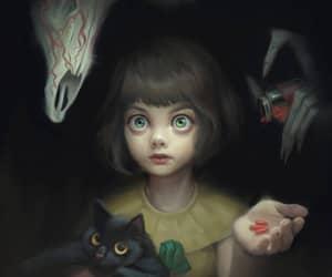 creepy, fanart, and game image