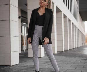 black, blazer, and boots image