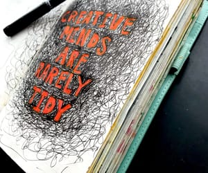 journaling, journals, and moleskine image