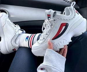 blue, Fila, and outfit image