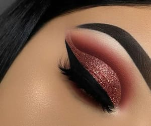 beauty, copper, and eyebrows image
