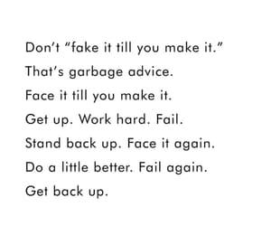 advice, b&w, and believe image