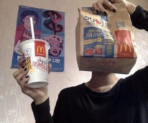 food, McDonalds, and grunge image