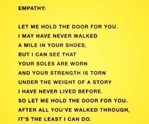 empathy, quote, and yellow image