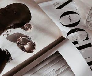 vogue, jewelry, and magazine image
