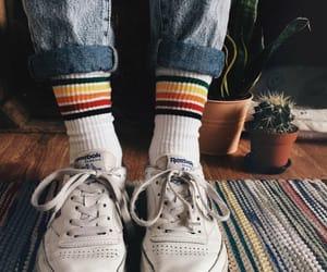 socks, grunge, and indie image