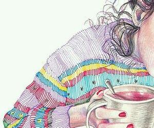 cafe, ilustracion, and coffee image