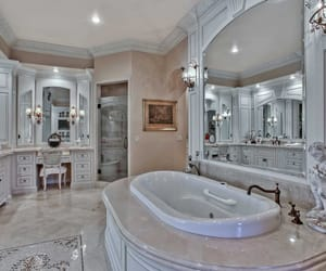 balcony, mansion, and bathtub image